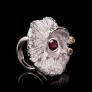 Sea Inspired Designer Silver Jewellery, Oceania Silver Flora Ring