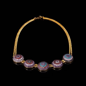Byzantine Style Designer Gold Domus Necklace