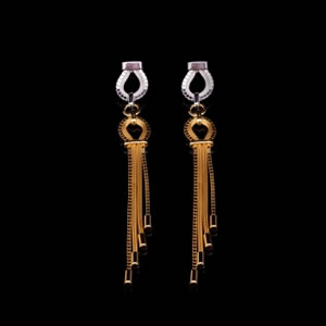 Classic Designer Gold& Silver Drop Earrings Jewellery