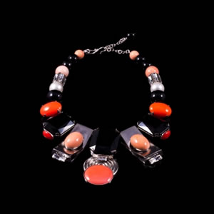 Designer Fashion Madison Swarovski Bib Necklace By French Jewellery Designer Philippe Ferrandis