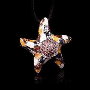 Exclusive Designer Jewellery, Unique Pendant Brooch Mosaic Jewel