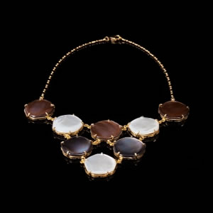 Byzantine Designer Jewellery, Unique Mother of Pearl Necklace