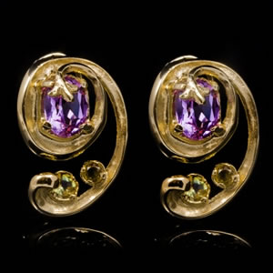 Luxury Designer Gemstone Gold Earrings
