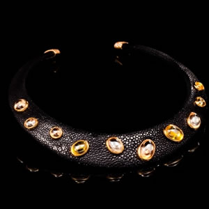 Byzantine Style Limited Edition Citrine Collar Necklace Jewel