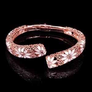 Byzantine Style Designer Enamel Jewel Silver Bracelet