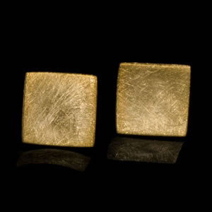 Classic Designer Gold Square Stud Earrings Jewellery