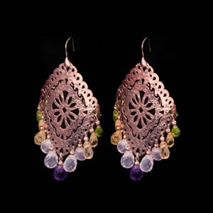 Riviera Designer Gemstone Earrings By Exclusive Italian Jewellery Designer Luisa Della Salda