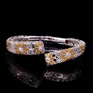 Byzantine Style Designer Enamel Jewel Bracelet