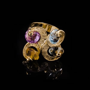 Luxury Designer Gold Ring Jewellery