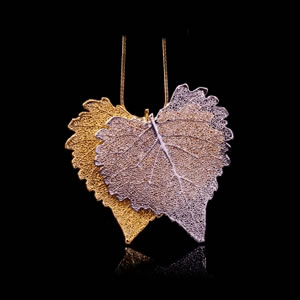 Designer Natural Fashion Jewellery, Classique Handcrafted Silver Gold Cotton Leaves Necklace