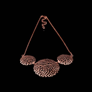 Designer Rose Gold Jewellery, Exclusive Rose Gold Filigree Necklace