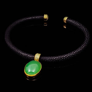 Byzantine Style Limited Edition Prehnite Collar Necklace Jewellery