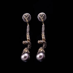 Luxury Limited Edition Tahitian Pearl Earrings