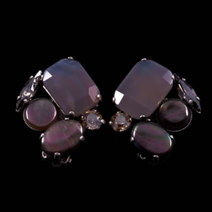 Designer Fashion Swarovski Clip Earrings By French Jewellery Designer Philippe Ferrandis