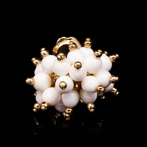 Designer Gold Cluster Stud Earrings Jewelry