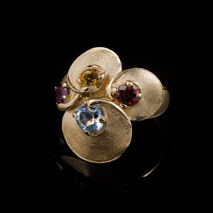 Luxury Limited Edition Gold Gemstones Ring