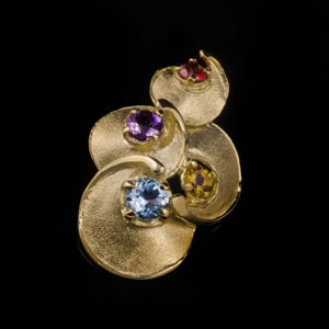 Luxury Limited Edition Gold Gemstones Pendant