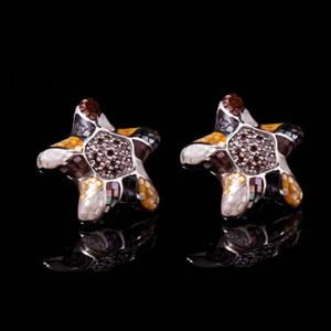 Exclusive Designer Jewellery, Unique Stud Earrings Mosaic Jewel