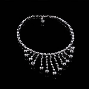 Exclusive Silver Jewellery, Designer Silver Beads Necklace by Luisa Della Salda