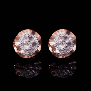 Classic Designer Pink Rose Stud Earrings Jewellery
