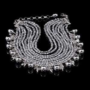 Exclusive Silver Jewellery, Designer Silver Choker Jewel by Luisa Della Salda