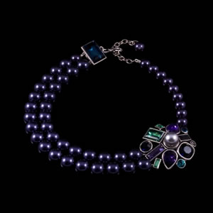Exclusive High Fashion Swarovski Necklace By French Jewellery Designer Philippe Ferrandis