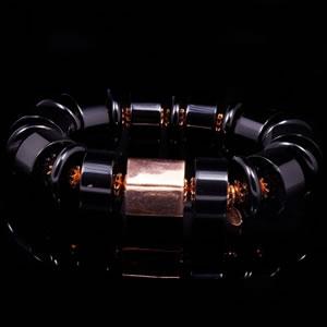 Exclusive Silver Jewellery, Designer Onyx Bracelet by Luisa Della Salda