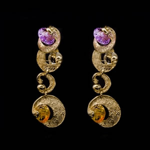 Luxury Designer Gold Earrings Jewellery