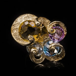 Luxury Designer Gemstone Gold Rings
