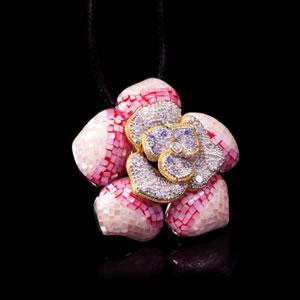 Unique Silver Jewellery, Exclusive Mosaic Design Brooch-Pendant