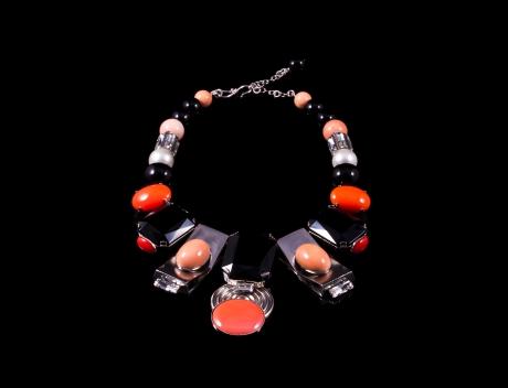 Designer Fashion Madison Swarovski Bib Necklace By French Jewellery Designer Philippe Ferrandis