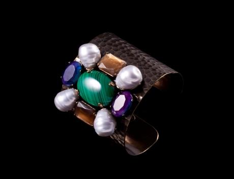 Philippe Ferrandis Designer Cuff | Exclusive Bronze Swarovski Cuff