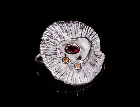 Sea Inspired Designer Silver Jewellery, Silver Flora Brooch-Pendant