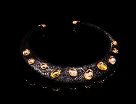 Byzantine Style Limited Edition Citrine Collar Necklace Jewel