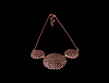Designer Rose Gold Jewellery, Exclusive Rose Gold Filigree Necklace