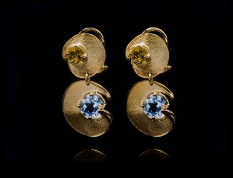 Luxury Limited Edition Gold Gemstones Earrings