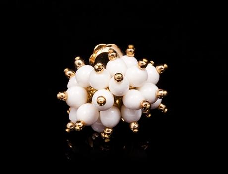 Designer Gold Cluster Stud Earrings Jewelry