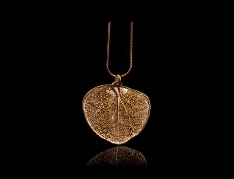 Designer Natural Fashion Jewellery, Classique Handcrafted Gold Money Leaf Necklace