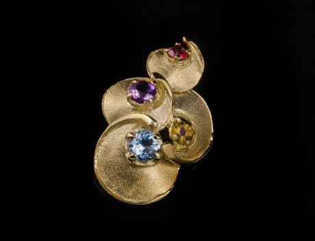 Luxury Limited Edition Gold Gemstones Pendant