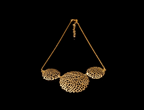 Designer Gold Jewellery, Exclusive Gold Filigree Necklace