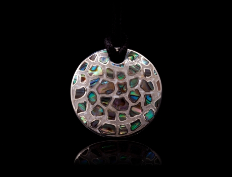 Designer Fashion Silver Jewellery, Unique  Mosaic Design Brooch Pendant