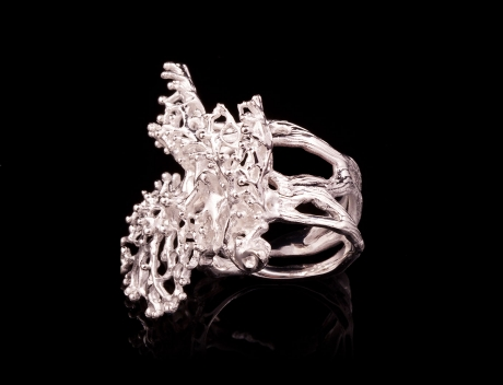 Sea Inspired Designer Silver Jewellery, Exclusive Silver Coral Ring