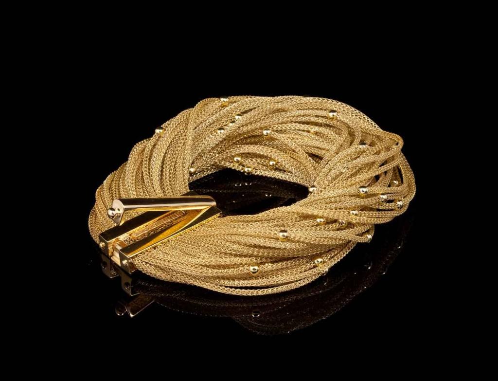 Designer Classic Gold Tuft Bracelet