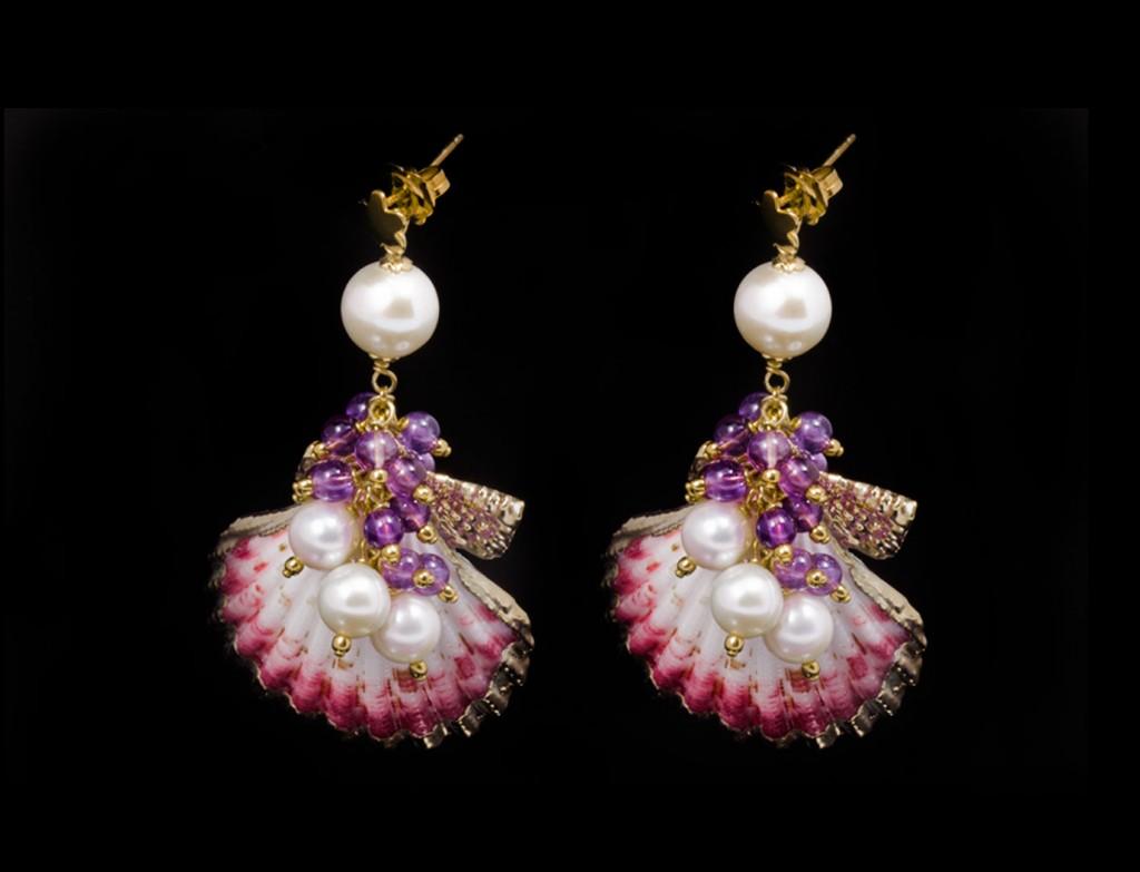 Designer Pinkshell Earrings