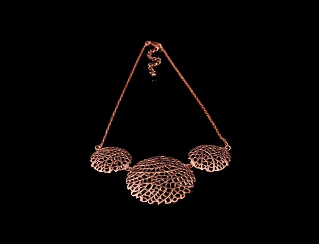 Designer  Rose Gold Filigree Necklace