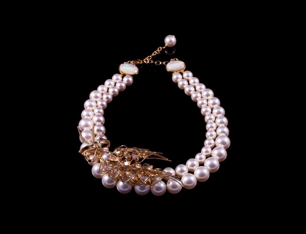 Riviera Marianne Swarovski Pearl Necklace